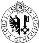 Symbol of John Calvin's College with the Catholic Key, Phoenix and IHS Logo